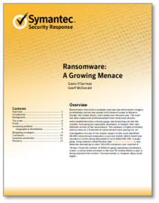 Symantec - Ransomware: A Growing Menace